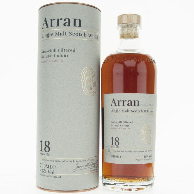 Arran 18 Year Old Single Malt Scotch Whisky - 70cl, 46% vol.