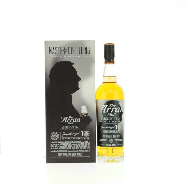 Arran James McTaggart 10th Anniversary Edition Single Malt Scotch Whisky - 70cl, 54.2%