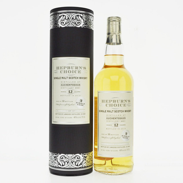 Auchentoshan 2001 Hepburn's Choice 12 Years Old Single Malt Scotch Whisky -70cl 46%