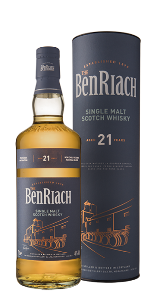 BenRiach 21 Year Old Classic Single Malt Scotch Whisky - 70cl, 46% vol.