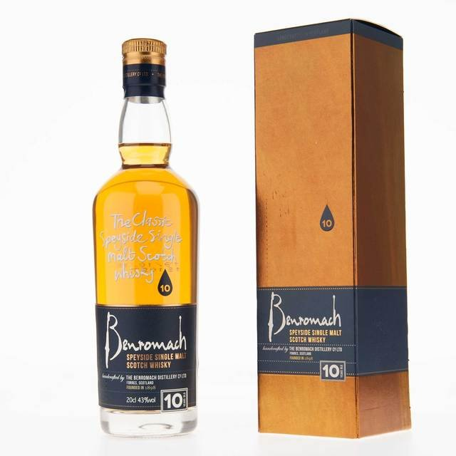 Benromach 10 Year Old Single Malt Scotch Whisky- 20cl, 43% Vol