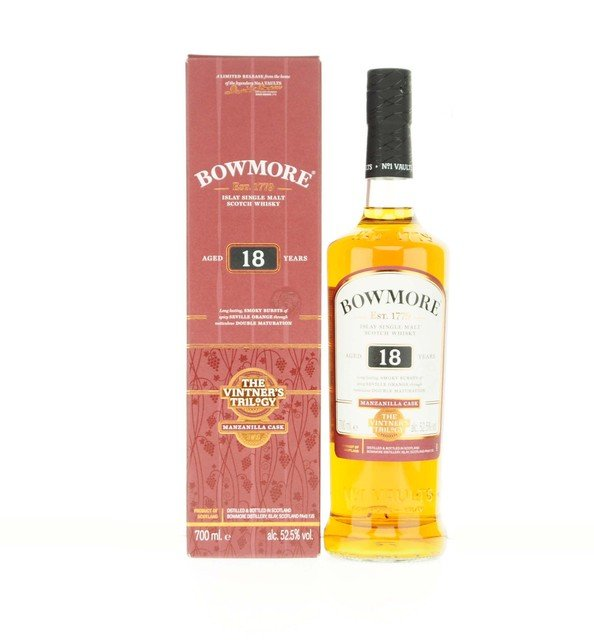 Bowmore Single Malt Scotch Whisky Vintners Trilogy 18 Year Old Manzanilla Cask 52.5% Vol 70Cl
