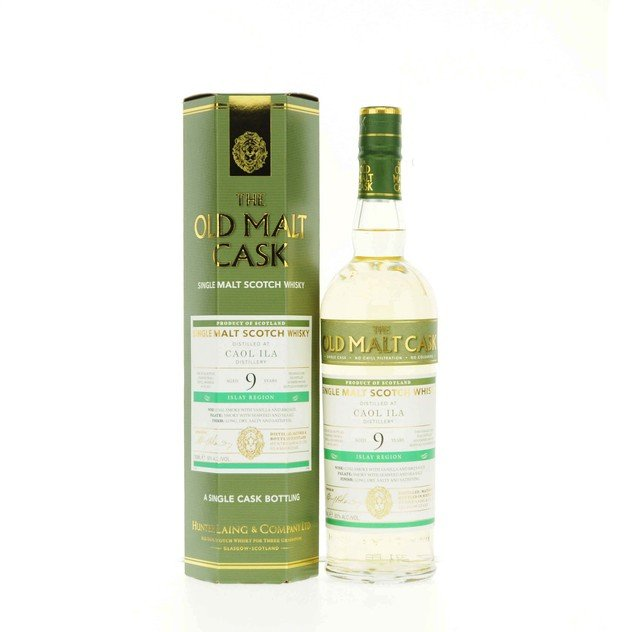 Caol Ila Old Malt Cask 9 Year Old Hunter Laing Single Malt Scotch Whisky 50% 70Cl