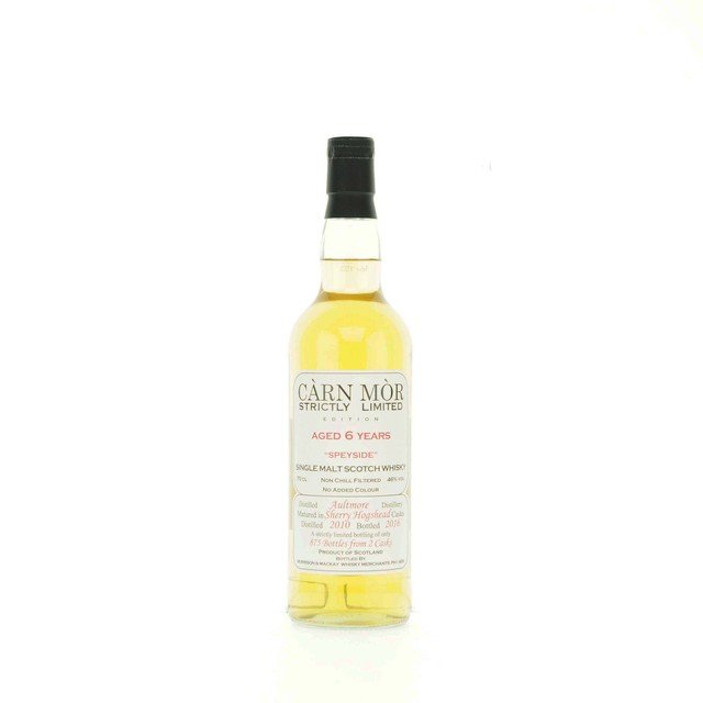 Carn Mor Strictly Limited Aultmore 6 Year Old Single Malt Scotch Whisky - 70cl, 46%