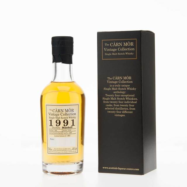 Carn Mor Vintage Collection Macduff 1991 Single Malt Scotch Whisky (20cl, 46% vol)