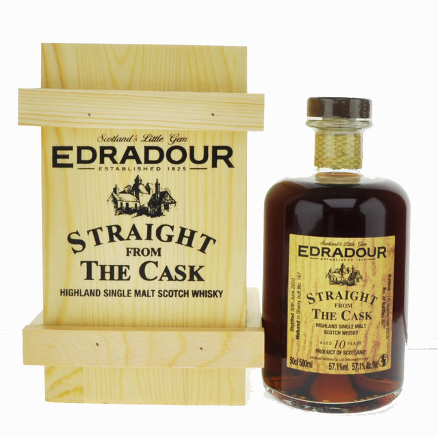 Edradour Sherry Cask 10 Year Old Straight From The Cask Single Malt Scotch Whisky  - 50cl, 57.1%