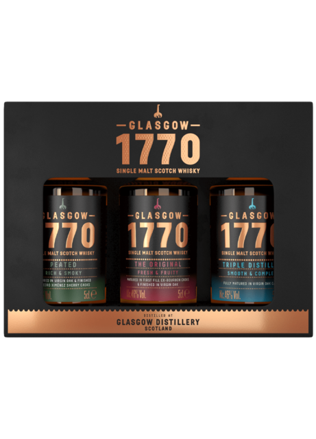 Glasgow 1770 Miniature Selection Gift Set Single Malt Scotch Whisky - 3 x 5cl, 46% vol.