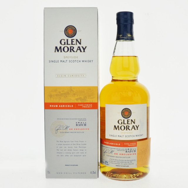 Glen Moray Rhum Agricole Cask Finish Project Single Malt Scotch Whisky - 70cl, 46.3% vol.