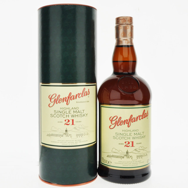 Glenfarclas 21 Year Old Single Malt Scotch Whisky - 70cl, 43%