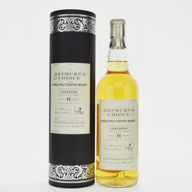 Longmorn 2003 Hepburn's Choice 11 Years Old Single Malt Scotch Whisky -70cl 46%