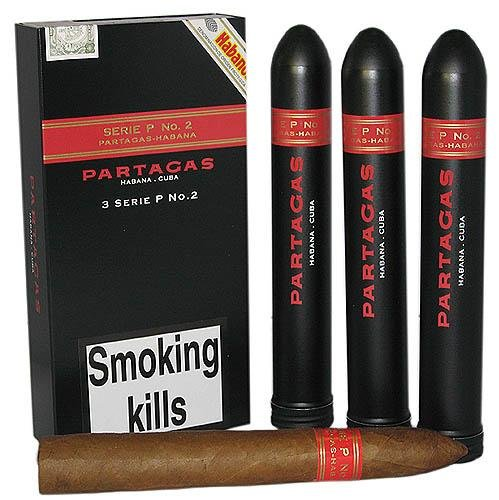 Partagas Serie P No. 2 Tubed Cigar - Pack of 3