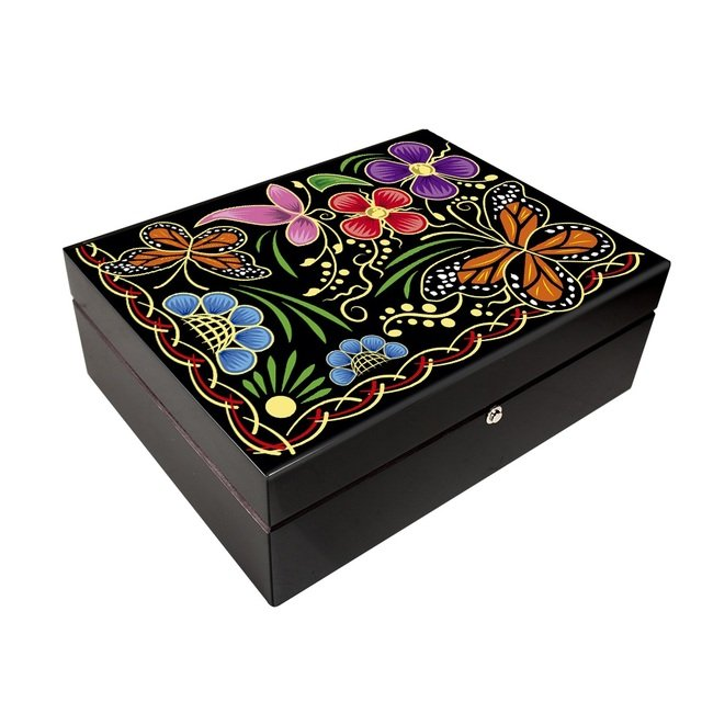 Mexican Talent Lacquer of Patzcuaro Humidor - 125 cigars