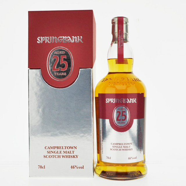 Springbank 25 Years Old Single Malt Scotch Whisky - 2015 Limited Edition - 70cl, 46% vol.