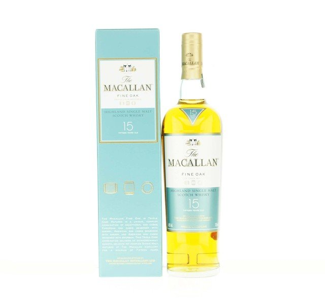 The Macallan Fine Oak 15 Year Old Single Malt Scotch Whisky - 70cl 43.0%