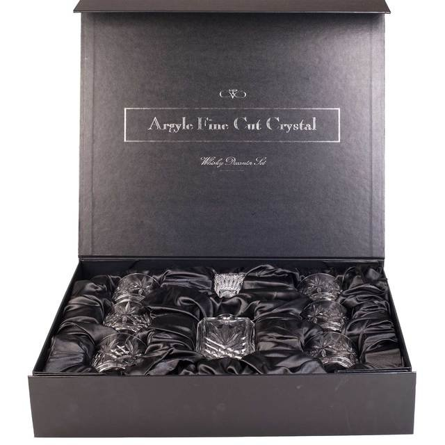 Argyle Fine Cut Crystal Whisky Decanter Set with Robert Graham Ailein Mor Single Malt Scotch Whisky