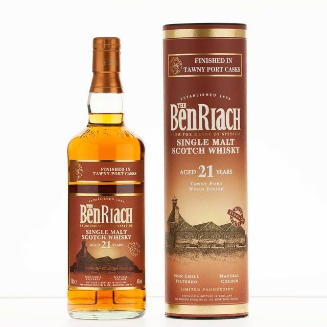 Benriach 21 Year Old Tawny Port Wood Finish Single Malt Scotch Whisky 46%  70cl