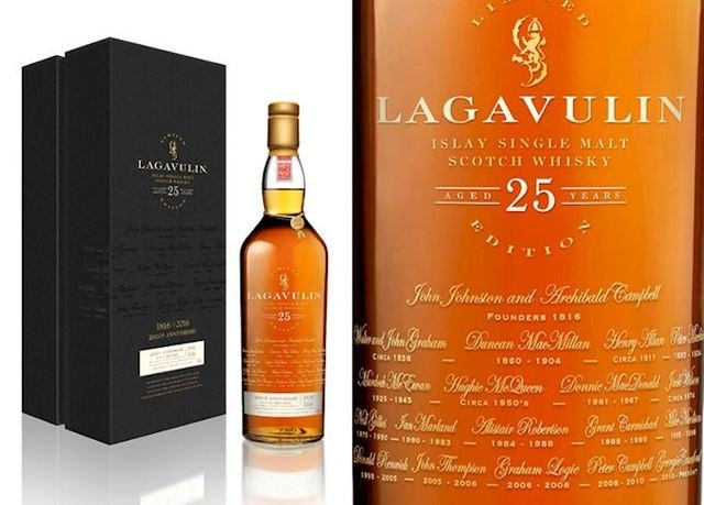 Lagavulin 25 Year Old Limited Edition Single Malt Scotch Whisky  70cl, Please Note - Only One bottle Per Customer!