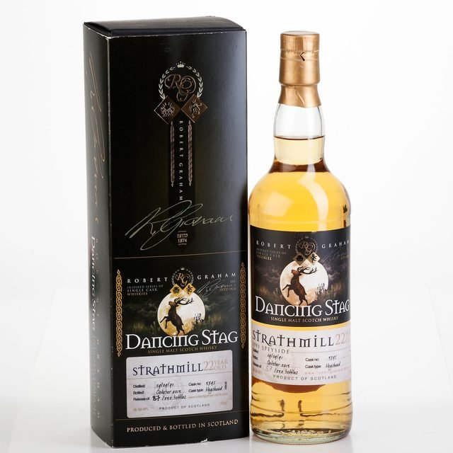Robert Graham Dancing Stag Strathmill 1991 22 Years Old Single Malt Scotch Whisky 46% 70cl