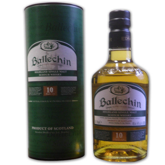 Ballechin 10 Years Old Edradour Single Malt Scotch Whisky  70cl 46%