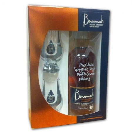Benromach 10 Year Old Single Malt Scotch Whisky Gift Pack (70cl 43%)