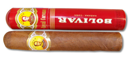 Bolivar Royal Corona Tubed Cigar - 1 Single