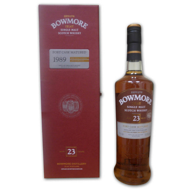 Bowmore Port Matured 23 Year Old 1989 Single Malt Scotch Whisky  (70cl 50.8%)