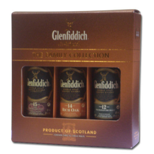 Glenfiddich Single Malt Scotch Whisky Taster Pack (12, 14, 15) - 3x5cl 40%