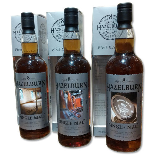Hazelburn 8 year old First Release Full Set of 3x70cl