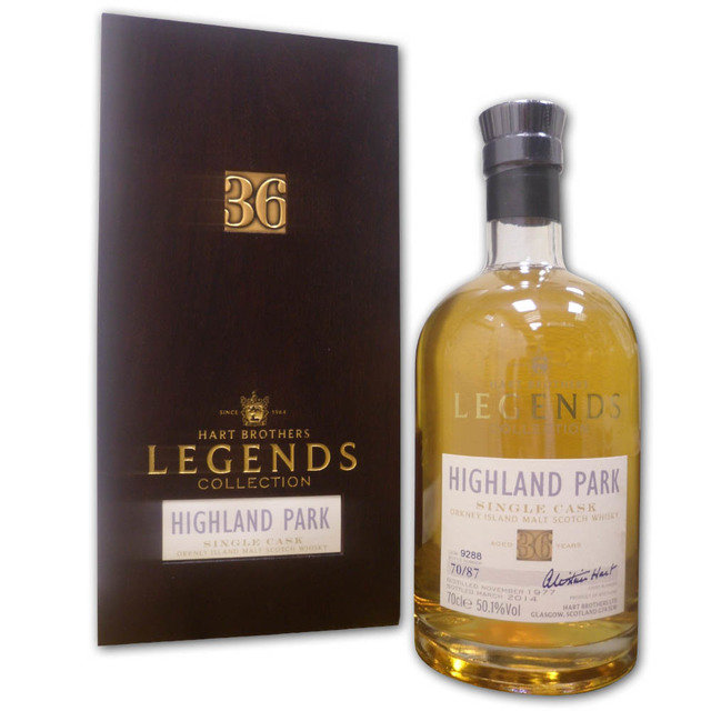 Hart Bros Legends Highland Park 36 Years Old Single Malt Scotch Whisky (70cl 50.1%)
