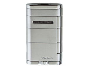 Xikar Allume Double Jet Lighter - Silver