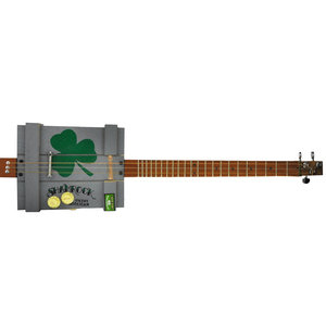 Alec Bradley Black Market Filthy Hooligan Shamrock Cigar Box 3-String Diddley Bow Guitar