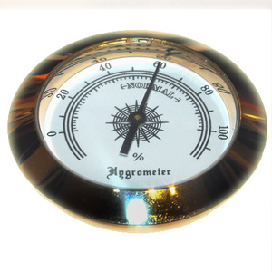 Analogue Hygrometer - Brass Finish  - 2 inch