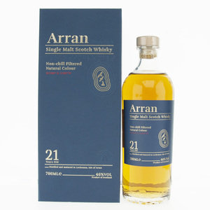 Arran 21 Year Old Single Malt Scotch Whisky - 70cl, 46% vol.