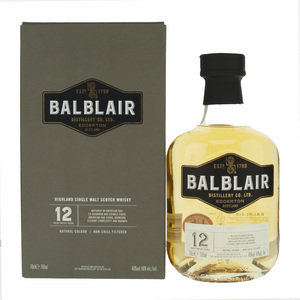 Balblair 12 Year Old Single Malt Scotch Whisky - 70cl, 46%