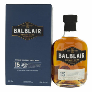 Balblair 15 Year Old Single Malt Scotch Whisky - 70cl, 46%
