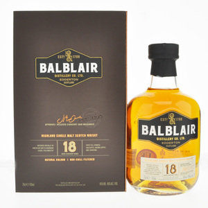 Balblair 18 Year Old Single Malt Scotch Whisky - 70cl, 46% vol.