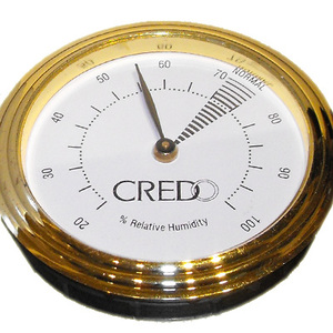 Credo Analogue Hygrometer Gold