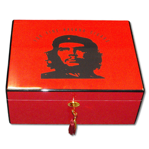 The Revolution Cigar Humidor - Red - 50 Cigar Capacity