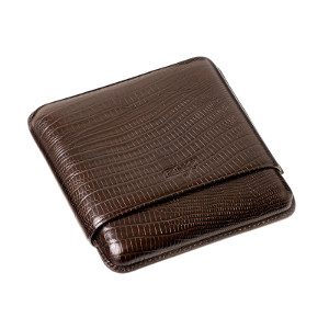 Davidoff Robusto Case - Fits 5 Cigars - Brown