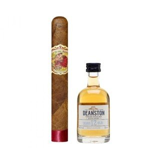 Deanston 12 and My Father Flor de Las Antillas Toro