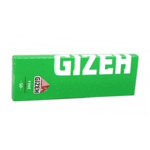 Gizeh Green (cut corner) Regular Size Rolling Papers - 1 pack