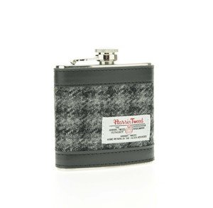 Glen Appin Harris Tweed 6 Oz. Hip-Flask