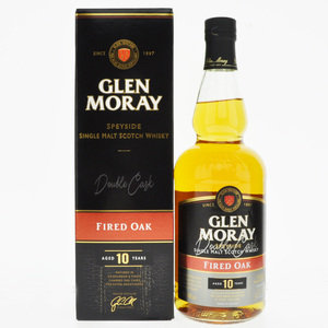 Glen Moray 10 Year Old Fired Oak Single Malt Scotch Whisky - 70cl, 40% vol.