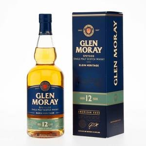 Glen Moray Elgin Heritage Single Malt Scotch Whisky 12 Year Old 40% Vol 70Cl