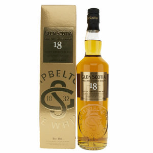 Glen Scotia 18 Year Old Single Campbeltown Malt Scotch Whisky - 70cl, 46%
