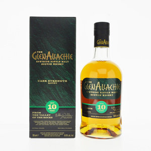 GlenAllachie 10 Year Old Cask Strength Speyside Single Malt Whisky 54.8% ABV 70cl