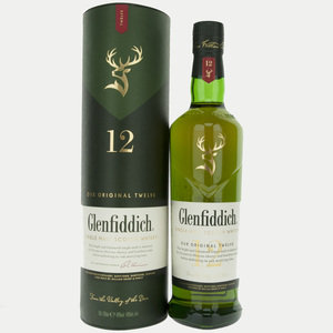 Glenfiddich 12 Year Old Single Malt Scotch Whisky - 70cl, 40%