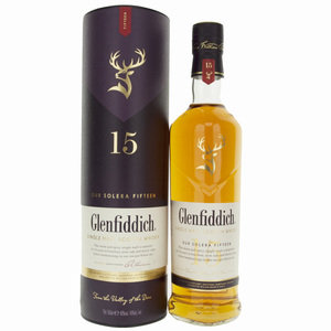 Glenfiddich 15 Years Old Single Malt Scotch Whisky - 70cl, 40%