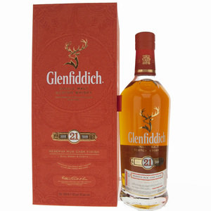 Glenfiddich 21 Year Old Gran Reserva Rum Cask Finish Single Speyside Malt Scotch Whisky - 70cl, 40% vol.
