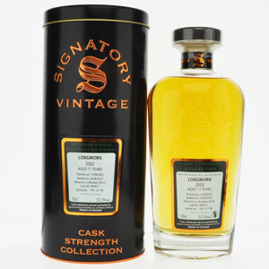 Longmorn 2002 17 Year Old Signatory Vintage Single Malt Scotch Whisky  - 70cl, 57.3%